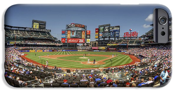 New York Mets Stadium iPhone Cases - Take Me Out To The Ballgame iPhone Case by Evelina Kremsdorf