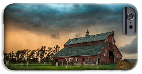 Run iPhone Cases - Take Shelter iPhone Case by Aaron J Groen