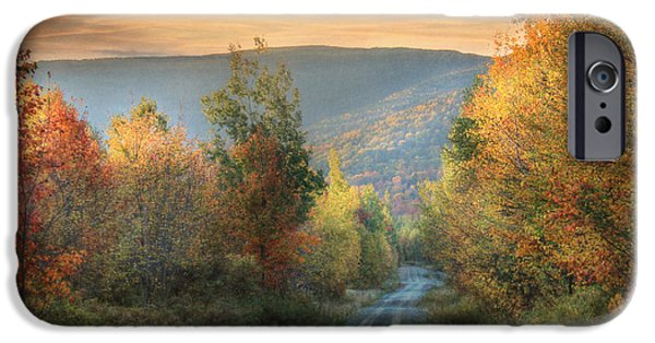 Maine Roads iPhone Cases - Take the Back Roads iPhone Case by Lori Deiter