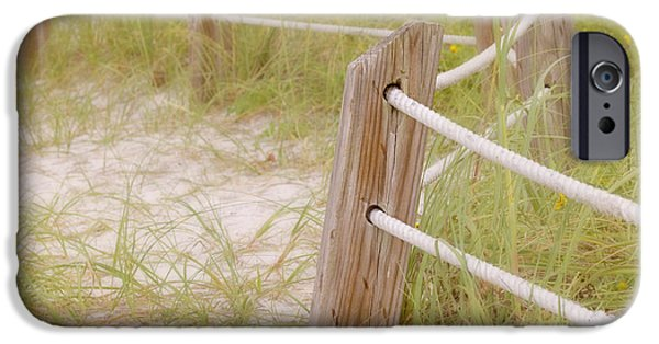Sand Fences iPhone Cases - Take the Gentle Path iPhone Case by Kim Hojnacki