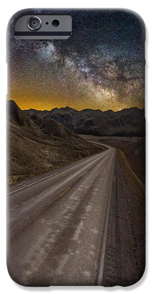 Badlands iPhone Cases - Take the Long Way Home iPhone Case by Aaron J Groen
