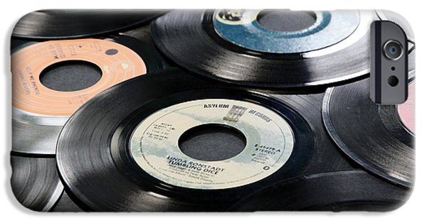Disc iPhone Cases - Take Those Old Records Off The Shelf iPhone Case by Athena Mckinzie