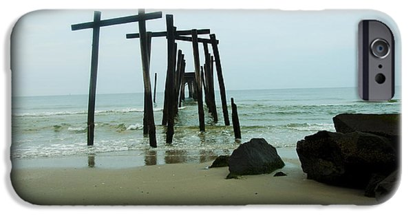 Ruins Digital Art iPhone Cases - Taken by the Sea - 59th Street Pier iPhone Case by Bill Cannon