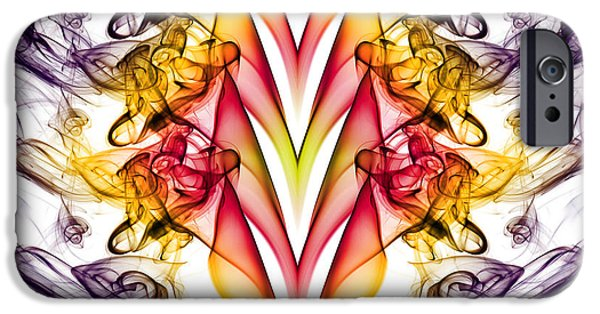 Abstract Digital Photographs iPhone Cases - Taking A Dive 2 iPhone Case by Steve Purnell