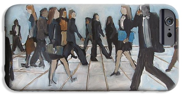 Business Paintings iPhone Cases - Taking Care of Business iPhone Case by Pauline Gough
