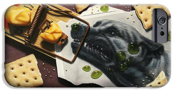 Cheese iPhone Cases - Taking the Bait iPhone Case by James W Johnson