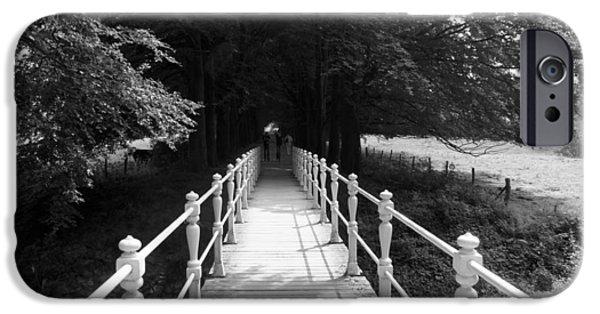 Limburg iPhone Cases - Taking The Bridge To iPhone Case by Jolly Van der Velden