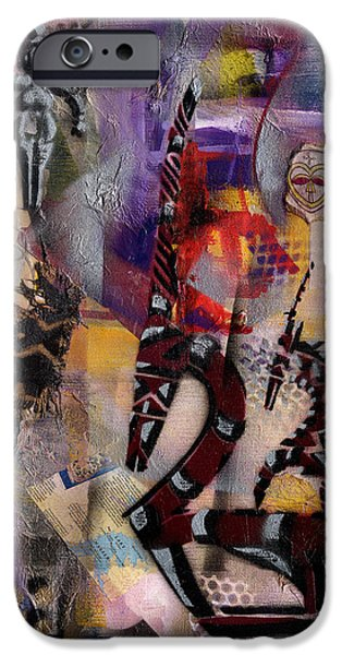 Jacob Lawrence iPhone Cases - Tale of the Chi-Wara - Female iPhone Case by Everett Spruill