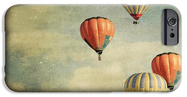 Hot Air Balloon iPhone Cases - Tales of Far Away iPhone Case by Violet Gray