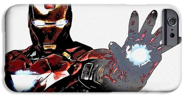 Ironman iPhone Cases - Talk to the Hand iPhone Case by The DigArtisT