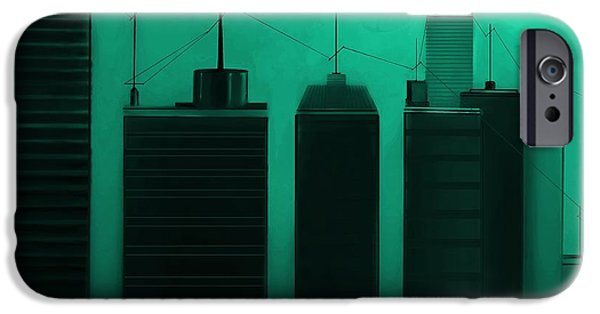 Buildings Mixed Media iPhone Cases - Talking Towers  #21 iPhone Case by Diane Strain
