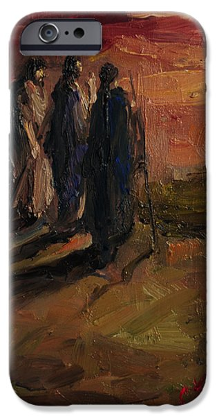 Recently Sold -  - Figures iPhone Cases - Talking With the Two iPhone Case by Carole Foret