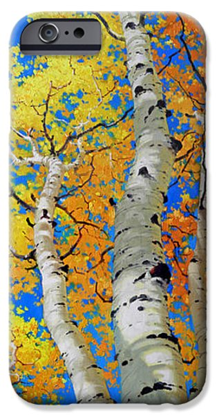 Tree Art Print iPhone Cases - Tall Aspen Trees iPhone Case by Gary Kim
