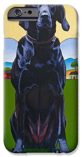 Labrador Puppy iPhone Cases - Tall Drink of Water iPhone Case by Stacey Neumiller