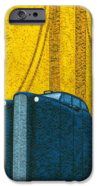Automotive iPhone Cases - Tall London Taxi iPhone Case by Brian James