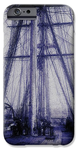 Tall Ship Digital Art iPhone Cases - Tall Ship 2 iPhone Case by Jack Zulli