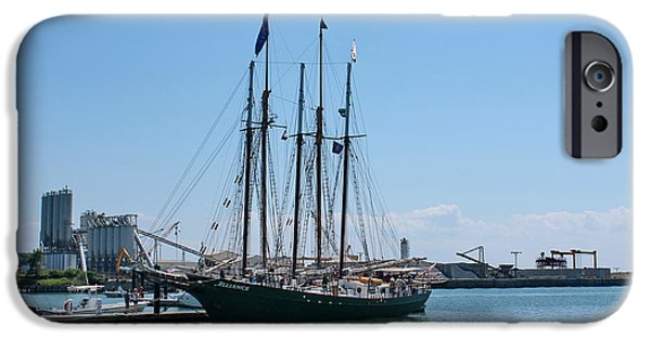 Yorktown Virginia iPhone Cases - Tall Ship Alliance iPhone Case by Francie Davis