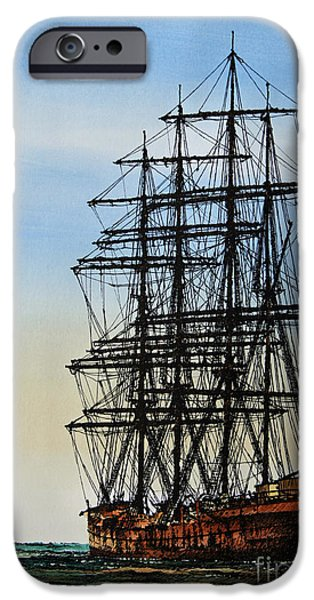 Tall Ship iPhone Cases - Tall Ship Beauty iPhone Case by James Williamson