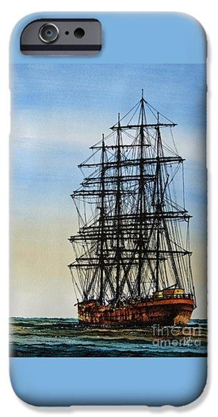 Sailing Ship Framed Prints iPhone Cases - Tall Ship Beauty iPhone Case by James Williamson
