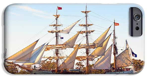 Tall Ships iPhone Cases - Tall Ship iPhone Case by Bill  Robinson