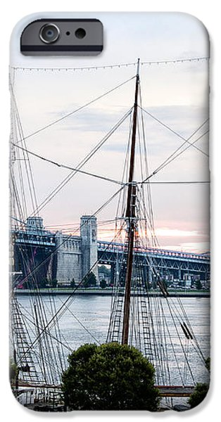 Tall Ship Gazela at Penns Landing iPhone Case by Bill Cannon