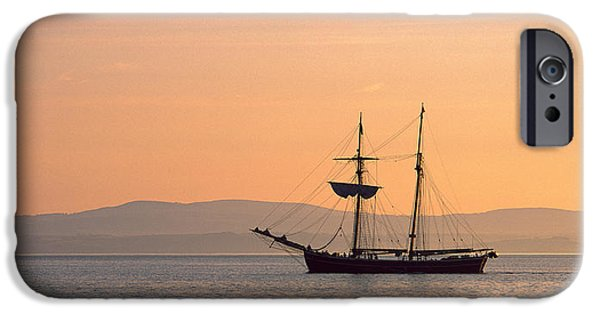 Tall Ship iPhone Cases - Tall Ship In The Baie De Douarnenez iPhone Case by Panoramic Images