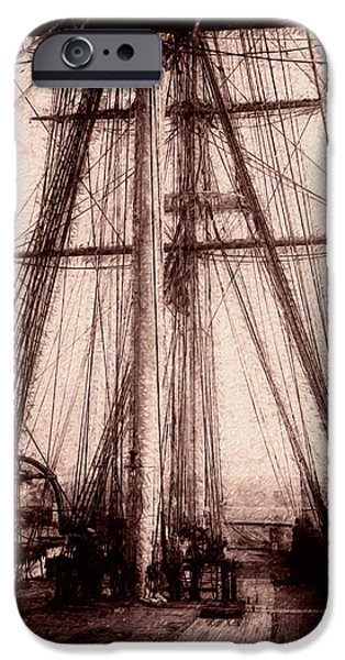 Tall Ship Digital Art iPhone Cases - Tall Ship iPhone Case by Jack Zulli