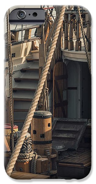 Tall Ship Kalmar Nyckel Ropes iPhone Case by Dapixara Art