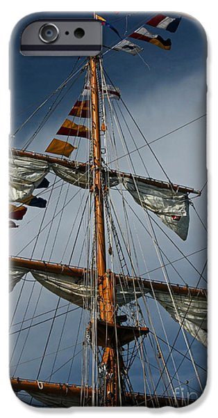Tall Ship iPhone Cases - Tall Ship Mast iPhone Case by Suzanne Gaff