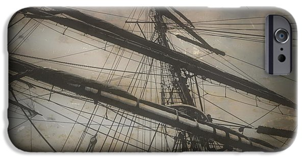 Tall Ship iPhone Cases - Tall Ship Mast V iPhone Case by Tim Richards