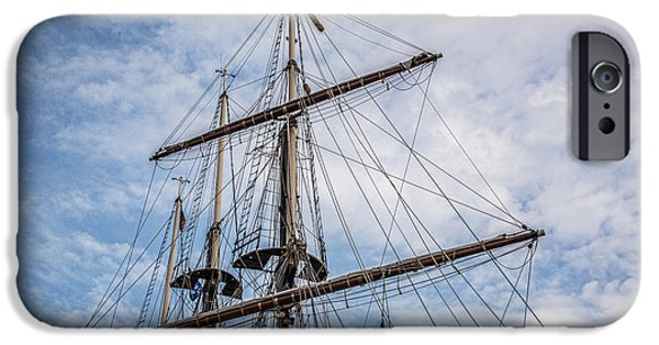 Tall Ship iPhone Cases - Tall Ship Masts iPhone Case by Dale Kincaid