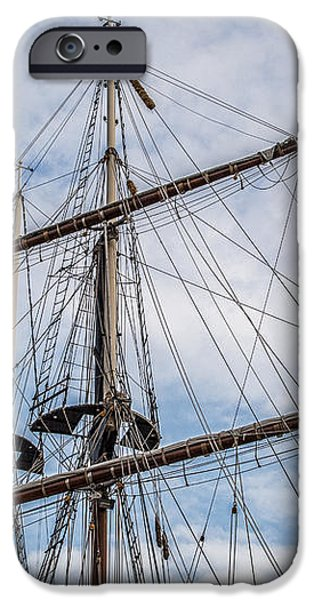Tall Ship Masts iPhone Case by Dale Kincaid