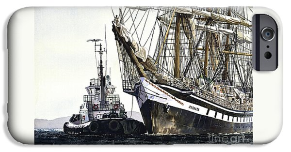 Tall Ship iPhone Cases - Tall Ship PALLADA iPhone Case by James Williamson