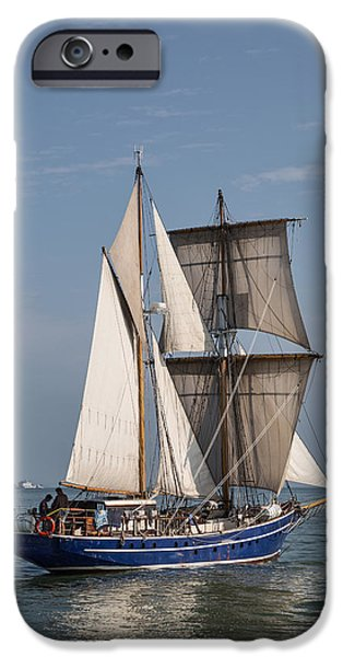 Pirate Ship iPhone Cases - Tall Ship Playfair iPhone Case by Dale Kincaid
