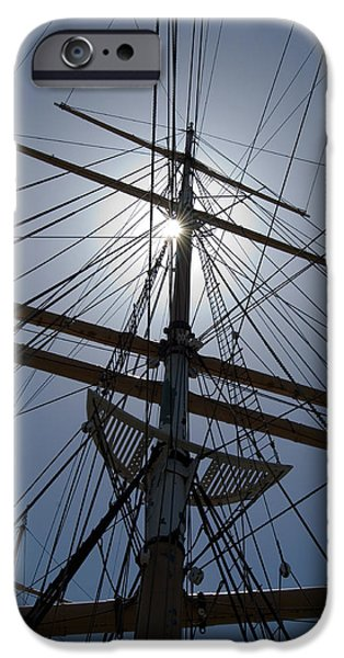 Tall Ship iPhone Cases - Tall Ship Rigging iPhone Case by Dave Koontz