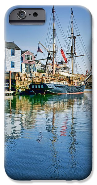 Pirate Ship iPhone Cases - Tall Ship - Rockport Harbor - Massachusetts iPhone Case by Nikolyn McDonald