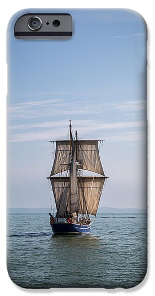 Pirate Ship iPhone Cases - Tall Ship Sailing iPhone Case by Dale Kincaid