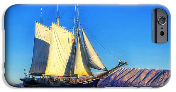 Tall Ship iPhone Cases - Tall Ship Sailing off the Coast of Greenland iPhone Case by Pixabay