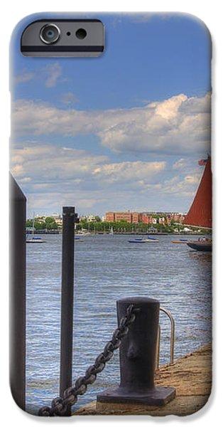 Tall Ship The Roseway in Boston Harbor iPhone Case by Joann Vitali