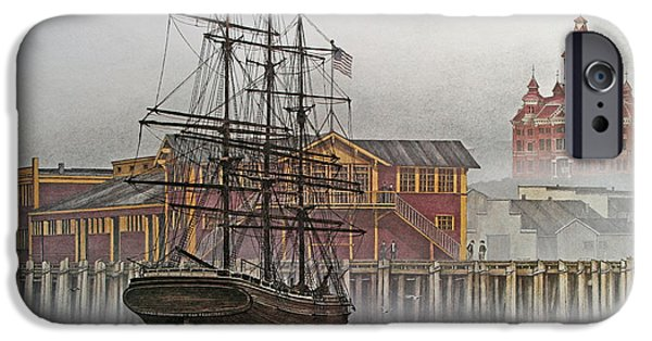 Tall Ship iPhone Cases - Tall Ship Waterfront iPhone Case by James Williamson
