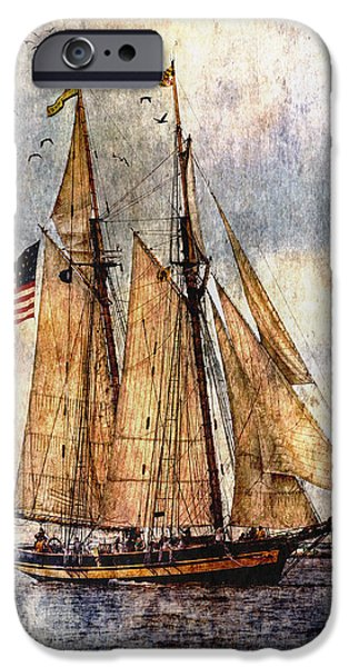 Pirate Ship iPhone Cases - Tall Ships Art iPhone Case by Dale Kincaid