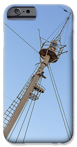Tall Ship iPhone Cases - Tall Ships Crows Nest iPhone Case by Susan Candelario