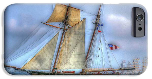 Tall Ship iPhone Cases - Tall Ships in Charleston SC iPhone Case by Dale Powell