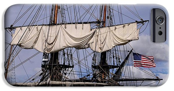 Tall Ship iPhone Cases - Tall Ships Mast iPhone Case by Lynn Bauer