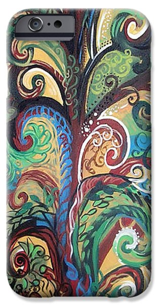 Yellow Ochre iPhone Cases - Tall Tree Winding iPhone Case by Genevieve Esson