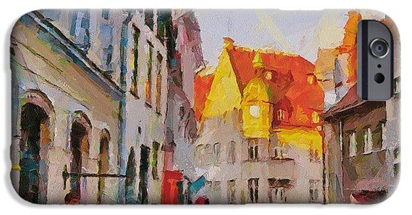 Tallinn iPhone Cases - Tallinn City scape iPhone Case by Yury Malkov