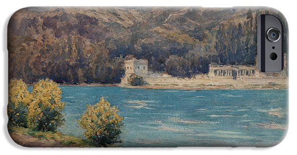 Rhone Alpes iPhone Cases - Talloires When Visiting Albert Besnard Wc On Paper iPhone Case by Henri Duhem