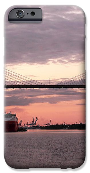 Talmadge Memorial Bridge iPhone Case by John Rizzuto