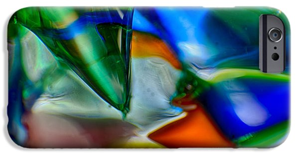 Fine Abstract Glass iPhone Cases - Talons Verde iPhone Case by Omaste Witkowski