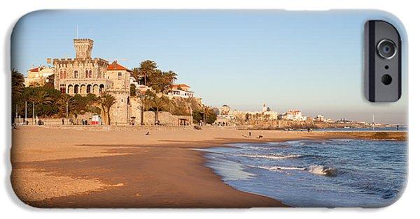Sand Castles iPhone Cases - Tamariz Beach in Estoril iPhone Case by Artur Bogacki